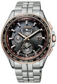 CITIZEN星辰Eco-Drive鈦金屬光動能電波腕錶(AT9095-68E)黑面/42mm