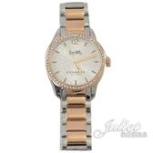茱麗葉精品【全新現貨】COACH W6183 Maddy 經典C LOGO 雙色水鑽腕錶.玫瑰金/銀