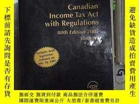 二手書博民逛書店Canadian罕見income tax act with regulations 80th edition 20