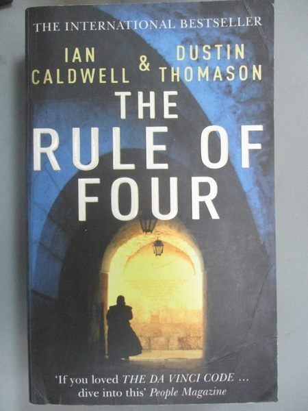 【書寶二手書T1/原文小說_LII】The Rule of Four_Ian Caldwell