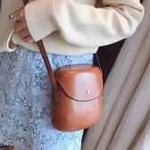 貝殼包韓國潮流純色單肩包休閒小包學院風百搭側背包包女