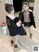 冬季女童大衣 童裝女童秋裝外套2019新款夾棉洋氣加厚秋冬裝兒童女孩棉服大衣潮 快樂母嬰