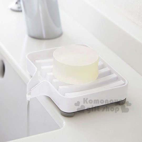 〔小禮堂〕YAMAZAKI 山崎 排水皂盒《白.長方形》防潮防皂垢 4903208-03249