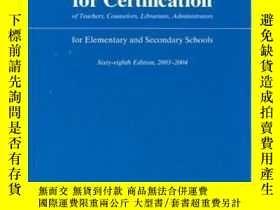 二手書博民逛書店Requirements罕見For Certification Of Teachers Counselors Li