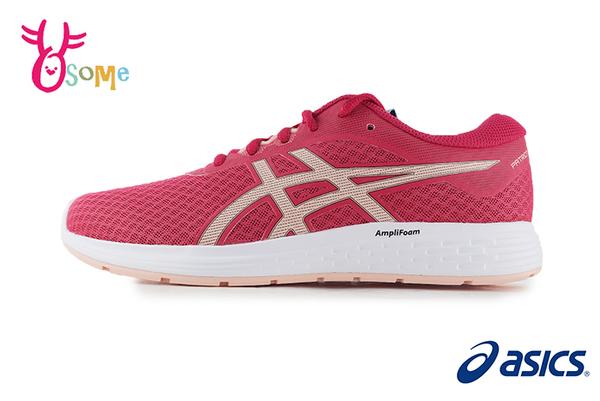 ASICS亞瑟士 PATRIOT 11 成人女款 路跑入門 短里程 慢跑鞋 運動鞋 A9156#粉紅◆OSOME奧森鞋業