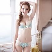 蕾絲內衣套裝(胸罩+內褲)-日韓可愛調整型半罩性感內衣2色73ho71[時尚巴黎]