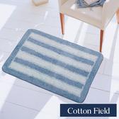 棉花田【華爾特】純棉提花踏墊-2色可選(40x60cm)藍