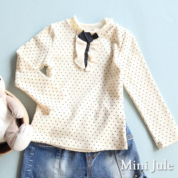 Mini Jule女童 上衣 滿版點點蝴蝶結/立體小兔子娃娃長袖T恤(共3款)