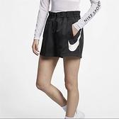 NIKE服飾系列-NSW SHORT WVN SWSH 女款運動黑色短褲-NO.AR3015010