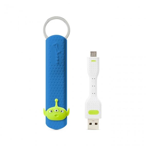 【Bone】Micro USB 傳輸鑰匙圈-三眼外星人