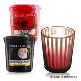 YANKEE CANDLE 香氛蠟燭-仲夏之夜+真愛玫瑰(49g)X2+祈禱燭杯