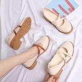 娃娃鞋 日系娃娃鞋瑪麗珍鞋平底圓頭小皮鞋森女復古淺口女鞋春秋新款單鞋