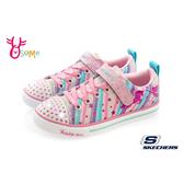 Skechers童鞋 女童電燈鞋 Skechers帆布鞋 休閒鞋 運動鞋 燈可關 粉 S8267#配色◆OSOME奧森鞋業