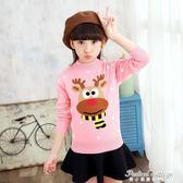 女童毛衣加厚套頭針織衫秋冬裝新款兒童針織打底衫中大童裝