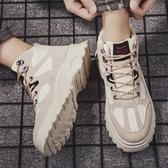 高筒鞋男鞋秋季潮鞋2020新款男士馬丁靴學生韓版潮流百搭運動高筒棉鞋冬 貝芙莉