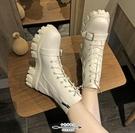 馬丁靴 女英倫風新款韓版百搭厚底機車短靴秋冬鞋子切爾西女靴 - 古梵希