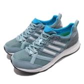 adidas 慢跑鞋 Adizero Tempo 9 藍 白 BOOST 發泡中底 舒適緩震 低筒 運動鞋 女鞋【PUMP306】 B37425