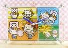 【震撼精品百貨】ONE PIECE&HELLO KITTY_聯名海賊王喬巴&凱蒂貓系列~掛鐘-四格