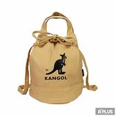 KANGOL 包 兩用尼龍水桶手提包 側背包 卡其色 袋鼠包 - 6925300730