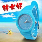 兒童手錶女孩男孩防水韓國果凍錶小學生手錶電子錶小孩手錶石英錶 全館免運