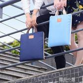A4手提文件袋拉鏈帆布補課補習試卷資料公文包女男學生韓國小清新『櫻花小屋』