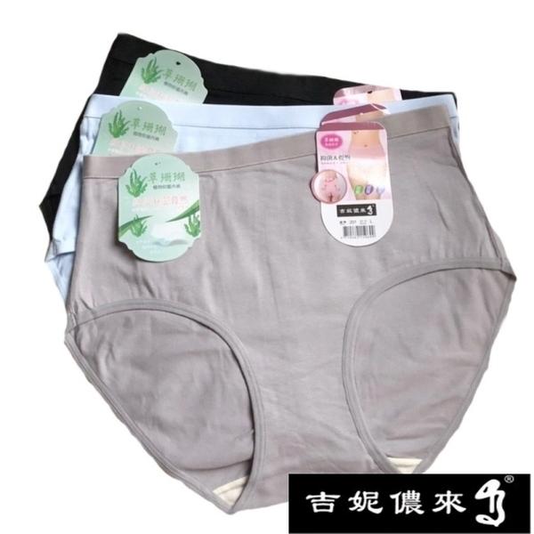 【吉妮儂來】舒適中腰加大尺碼石墨烯束腹平口棉褲 12件組(隨機取色) 201