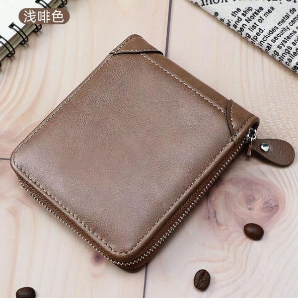 新款錢包男短款拉鏈零錢包小包潮流錢夾皮夾子青少年卡包韓版學生 創意新品