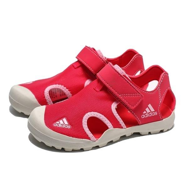 ADIDAS CAPTAIN TOEY K 桃紅 粉 護趾 運動涼鞋 中童(布魯克林) BC0702