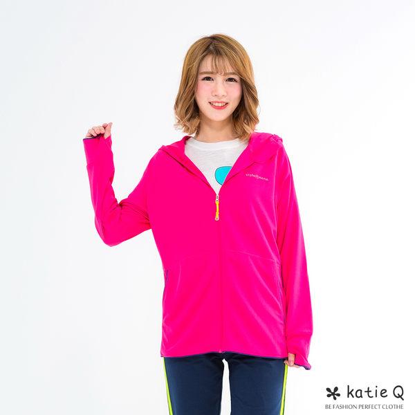 空氣感防曬手袖運動外套(3色)-F-KatieQ