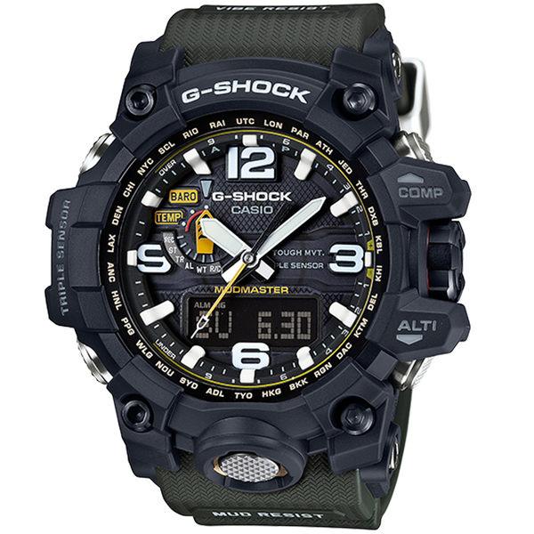 CASIO卡西歐G-SHOCK MUDMASTER極限大陸電波太陽能腕錶  GWG-1000-1A3 綠