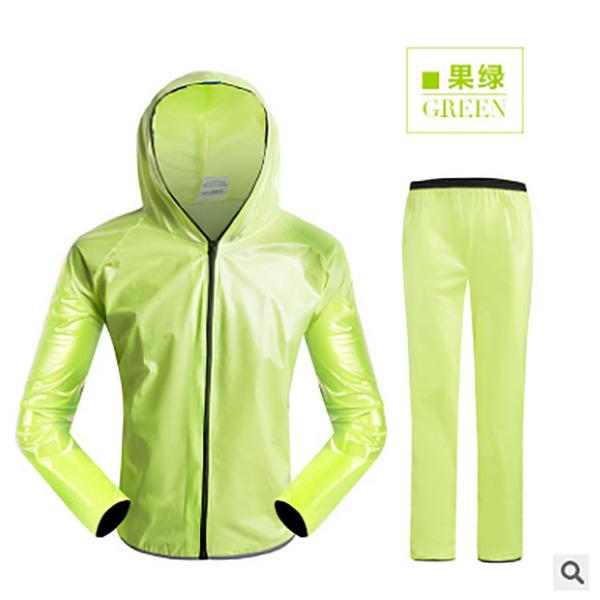 現貨 自行車運動戶外分體雨衣套裝 防水騎行服成人騎行雨衣