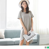 OrangeBear《DA4416》不規則鏤空露背造型純色高棉量弧襬休閒洋裝.2色--適 XL~5L