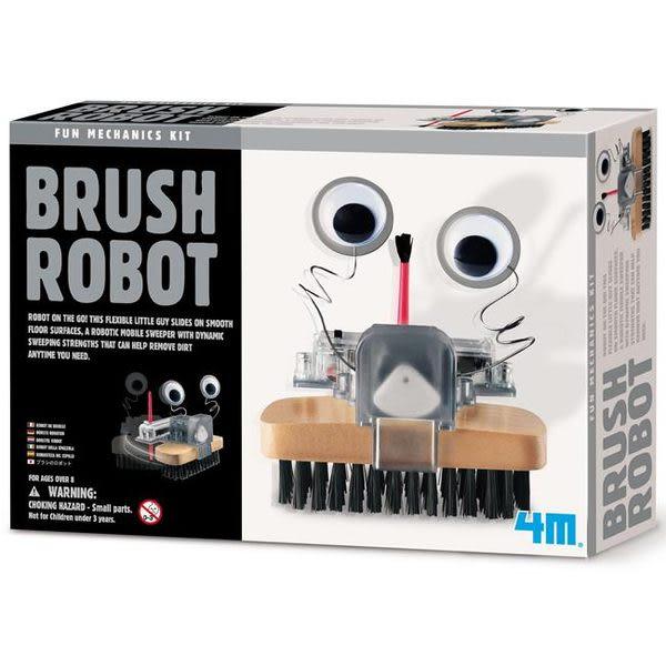 《4M科學探索》Brush Robot毛刷怪機器人 ╭★ JOYBUS玩具百貨
