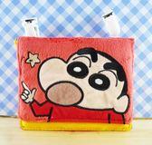 【震撼精品百貨】蠟筆小新_Crayon Shin-chan~小新夾式置物袋/收納袋-紅色#02870