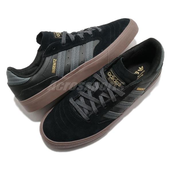 adidas 休閒鞋 Busenitz Vulc II 黑 灰 金標 男鞋 麂皮設計 復古 【ACS】 FY0455