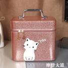 化妝包大容量網紅小號便攜少女可愛收納盒韓國ins簡約化妝箱手提『摩登大道』