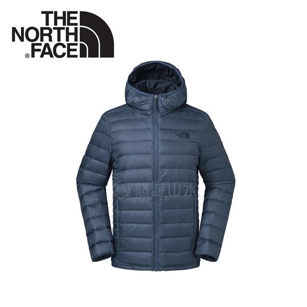 【The North Face 男款 700fp 連帽羽絨外套《藍》】35E7HMM/羽絨外套/外套/保暖外套