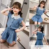 童裝女童夏裝套裝新款中大童兒童時尚洋氣女孩時髦潮衣兩件套 夏季新品