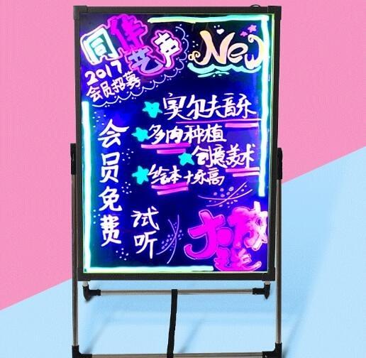 台件代發led電子熒光板手寫發光小黑板店鋪宣傳廣告招牌閃光告板 聖誕節全館免運