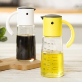 油壺玻璃醬油瓶小醋瓶防漏倒油刻度日式家用廚房透明調料自動油瓶