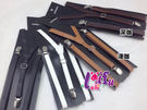 *來福*k457吊帶機能性三夾1.3cm皮質背帶吊帶男女皆可,售價100元