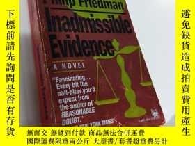 二手書博民逛書店Inadmissible罕見Evidence【不能承認的證據,菲