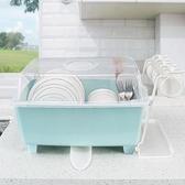 塑料碗筷收納盒 廚房放碗柜塑料帶蓋瀝水碗架碗筷收納箱放餐具碗筷收納盒碗盤架子JY