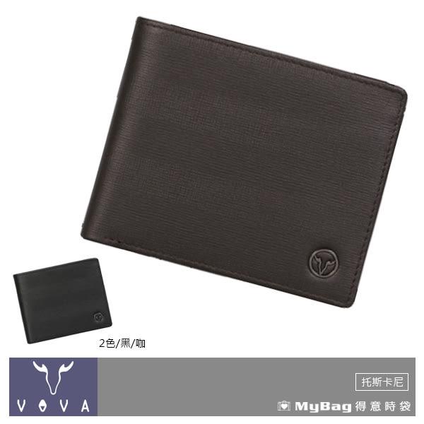 VOVA 沃汎 皮夾  咖啡色  托斯卡尼系列8卡AI紋短夾 VA111W002BR  MyBag得意時袋