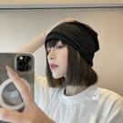 月子帽 月子帽子女韓版潮堆堆帽冷帽春夏日系百搭黑色薄款包頭帽頭巾帽男 韓菲兒