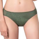 思薇爾-奧羅拉系列M-XL蕾絲低腰三角內褲(莫棕綠)