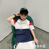 男童短袖夏裝t恤夏季韓版寬鬆純棉嘻哈兒童裝【奇趣小屋】