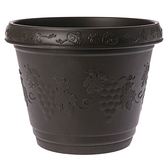 葡桔花盆 8吋 咖啡色