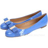 Salvatore Ferragamo VARINA 漆皮娃娃鞋(紫藍色) 1420344-B1