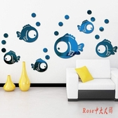 創意3D小魚鏡面亞克力立體墻貼浴室防水幼兒園兒童房布置裝飾墻貼自黏LXY3948【Rose中大尺碼】